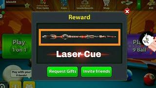 Free 8 Ball Pool { Laser Cue} Again Back New Reward Link 100℅ Working Free Loot😘😰