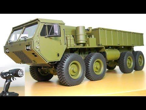 AMAZING RC TRUCK M983 HEMTT OSHKOSH 8x8 UNBOXING!! RC CRAWLER AMEWI 22389 HG P801