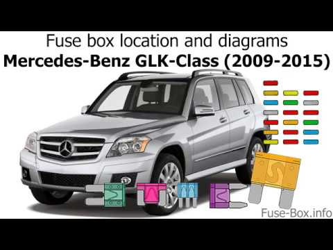 Fuse box location and diagrams Mercedes-Benz GLK-Class (2009-2015