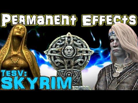 TESV: Skyrim - Permanent/Passive Special Effects Guide (Vanilla)