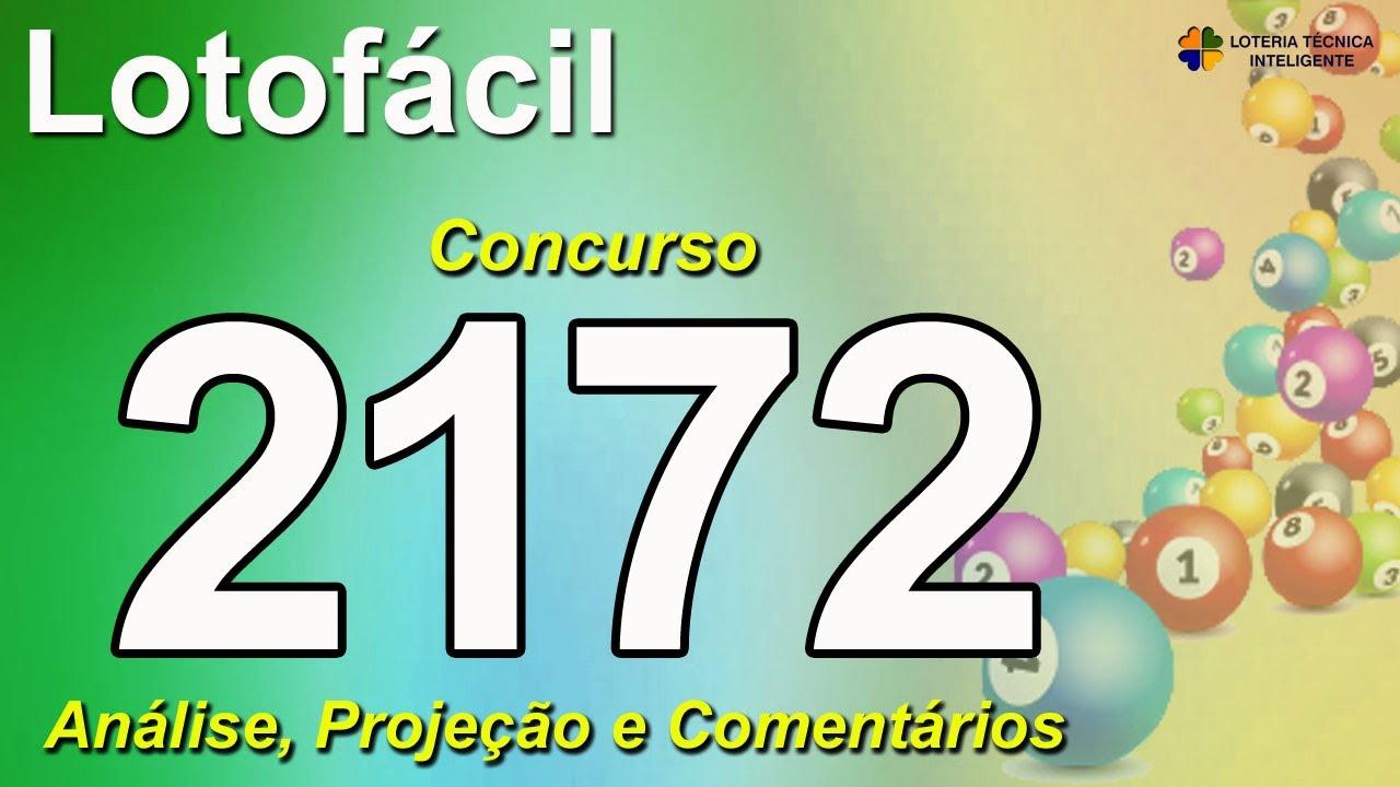 ANÁLISE E PROJEÇÃO PARA O CONCURSO 2172 DA LOTOFÁCIL
