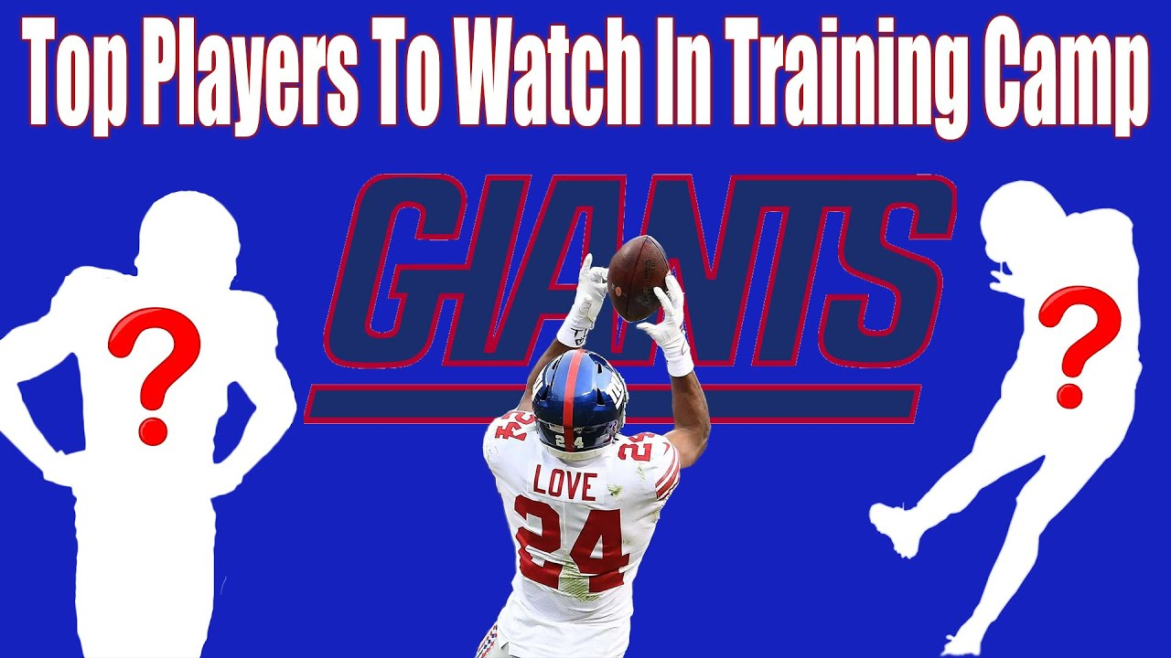NY Giants: Top Players To Watch In Training Camp 2020 - YouTube