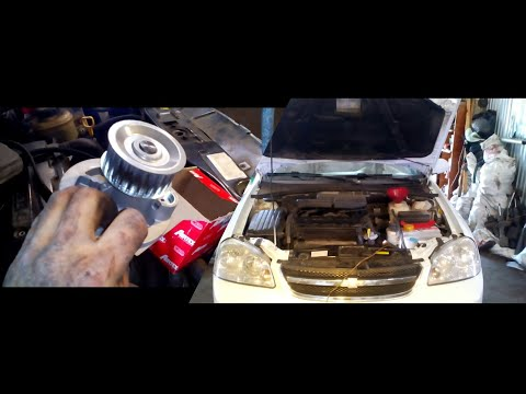 Chevrolet Lacetti замена помпы и ремня ГРМ
