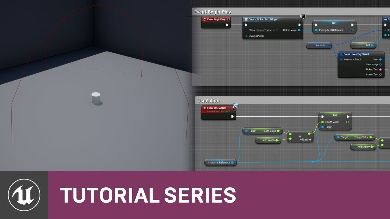 UMG UI Inventory: Pickup & Pickup Text Setup | 06 | v4 8 Tutorial Series |  Unreal Engine