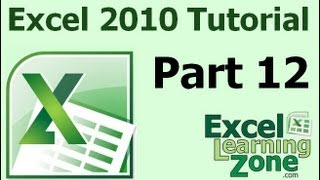 Microsoft Excel 2010 Tutorial - Part 12 of 12 - Review