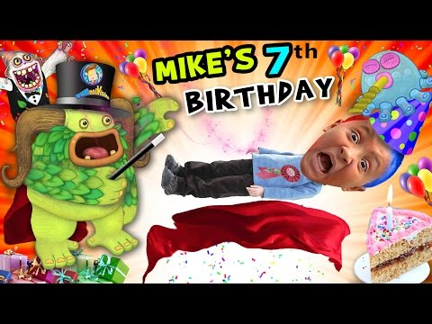 Thumbnail: Mike's 7th Birthday! A Magically Monsterific Party Celebration! (FUNnel Vision B-Day Vlog)