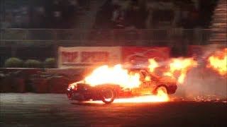 Tuned Nissan Skyline Drifting & Catches Fire - MEMTS 2014!!
