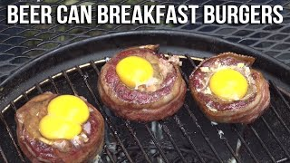 How To Grill Beer Can Breakfast Burgers Recipe Bbq Pit Boys Youtube