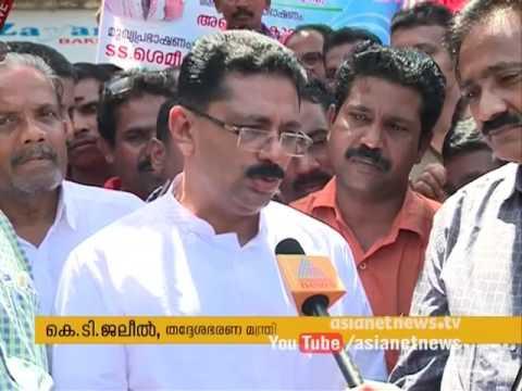 Minister K T Jaleel visits inmates of old age home Tavanur