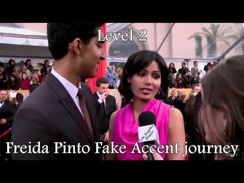 Freida Pinto FAKE accent journey