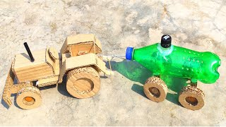 How to Make Tractor Water Tanker with Cardboard And Plastic Bottle || Sarkari Yojana Crafts