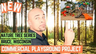 New Commercial Playground Installation Village of Bruce, Wisconsin