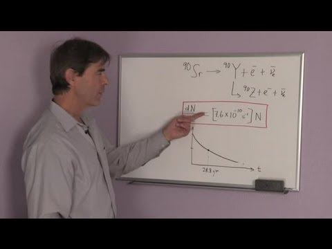 Equation For The Decay Process Of Strontium 90 Physics Science Lessons