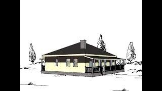 Проект дома Палермо (восточный фасад, одноэтажный дом до 120-125 квм).Часть 2(Проект одноэтажного дома 120-125 кв.м. на участке с восточным фасадом (начало здесь https://youtu.be/WpaRaM37LUg) Как сделат..., 2016-02-21T16:43:31.000Z)