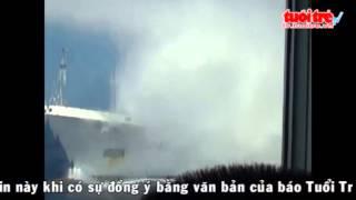 Video phía trong tàu Việt Nam chống chọi với 8 tàu Trung Quốc