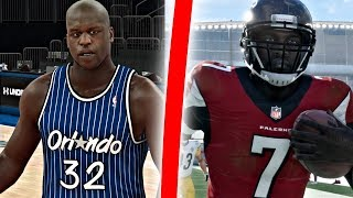 Can Shaquille ONeal Hit A Three Pointer Before Mike Vick Gets A 99 Yard QB Draw?