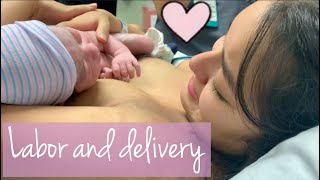 LABOR AND DELIVERY VLOG | WATER BROKE | UNEXPECTED  *EMOTIONAL*