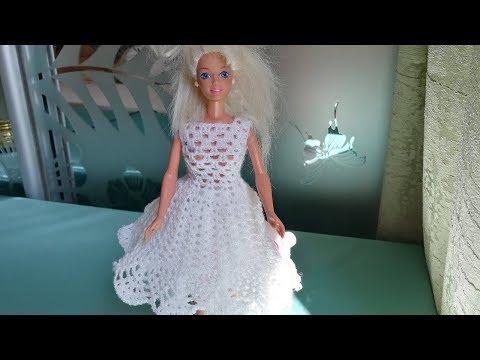Клубное платье для Барби крючком