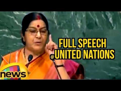 Sushma Swaraj Full Speech At United Nations | Terrorism | Kashmir Issue | Mango News