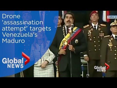 Drone 'assassination attempt' targets Venezuela's Maduro