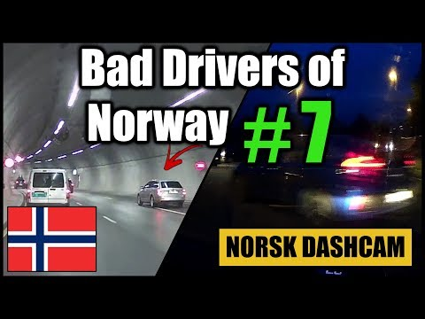 Bad Drivers of Norway #7 - Parking collisions, wrong way drivers and a lot of honking