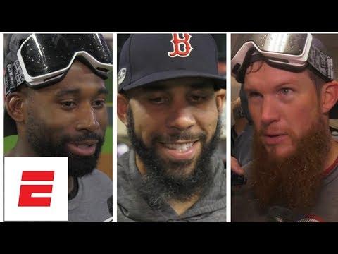 Boston Red Sox react to reaching World Series | MLB Interviews