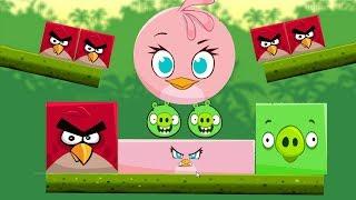 Angry Birds Kick Piggies - GAMEPLAY BAD PIGS GOT KICKED BY STELLA!