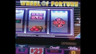 $50/spin Wheel of Fortune HIGH LIMIT SLOTS w/Spin Bonus