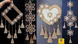 4 Best Creative Jute Wall Hangings Room Decoration Ideas | Best out of waste Jute Craft Designs