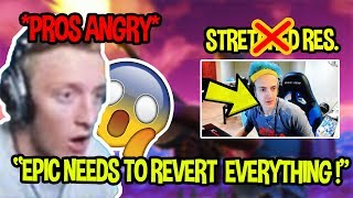 STREAMERS ANGRY OVER FORTNITE *BANNED* STRETCHED RES | NINJA BANNED ?| Fortnite Funny Moments