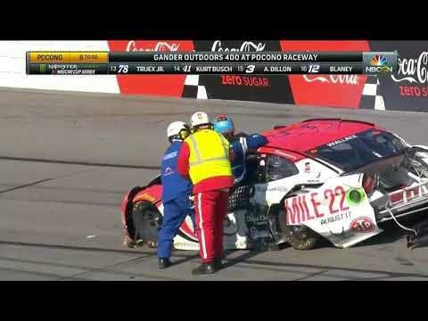 Bubba Wallace hard wreck at Pocono