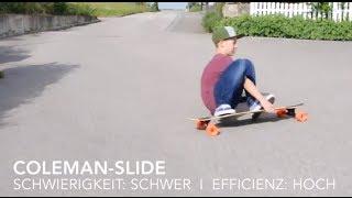 Bremsen mit Longboard Tutorial Deusch/HD
