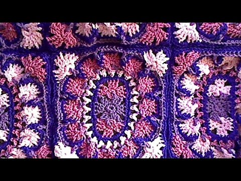 How to make this Beautiful Brocade Throw - Part 2 Left handed