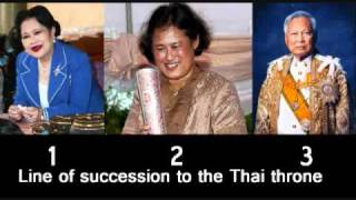 Line of succession to the Thai throne 1-2
