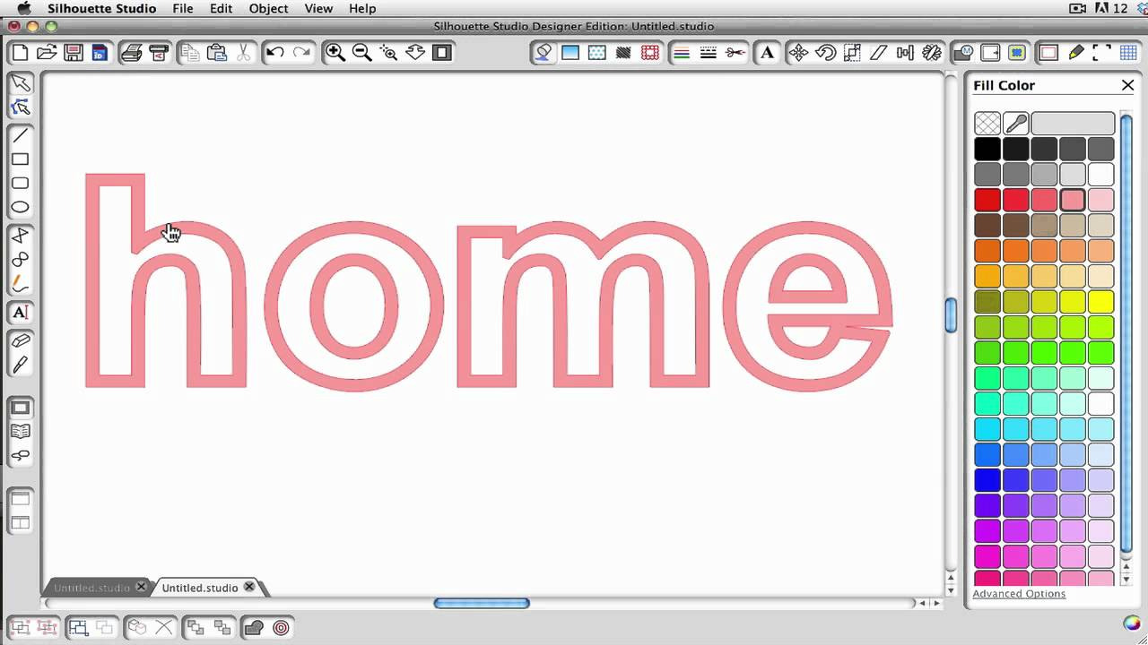 Silhouette Studio: Creating an Outlined Word