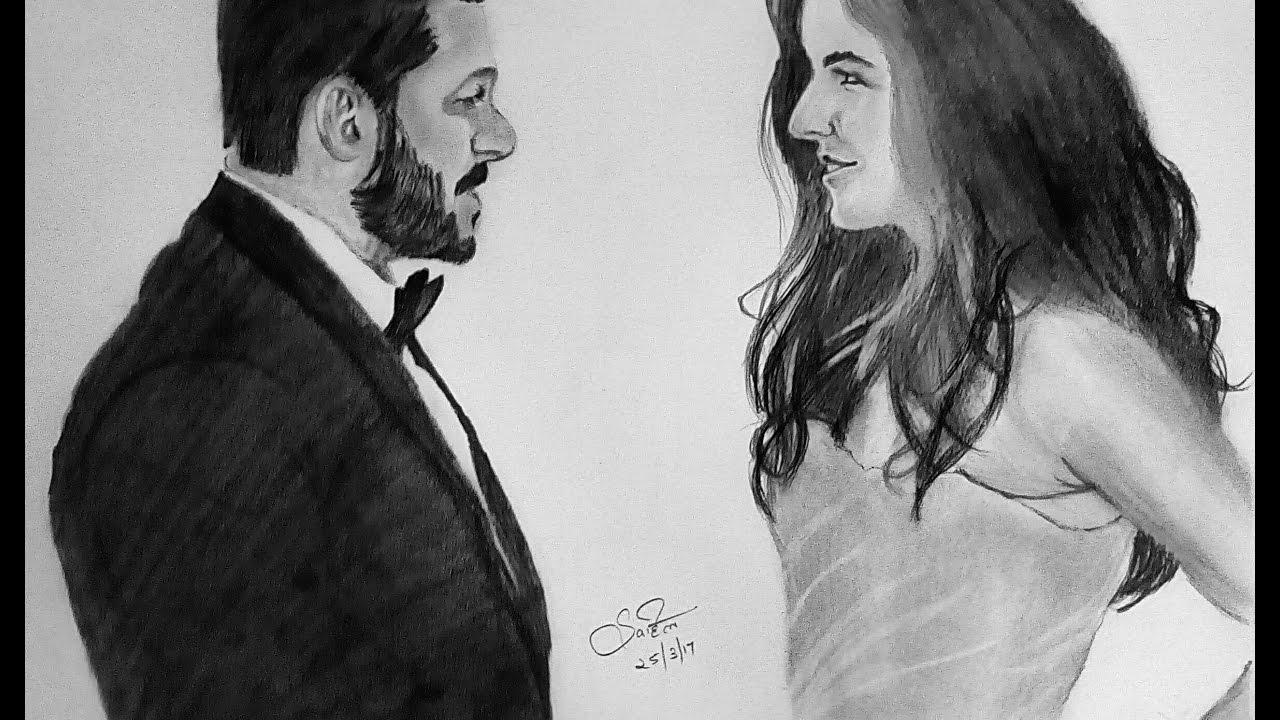 Tiger zinda hai salman khan and katrina kaif sketch love song