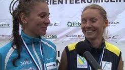 Evely Kaasiku & Liis Johanson - Eesti Meistrid 2014 orienteerumise sprindis