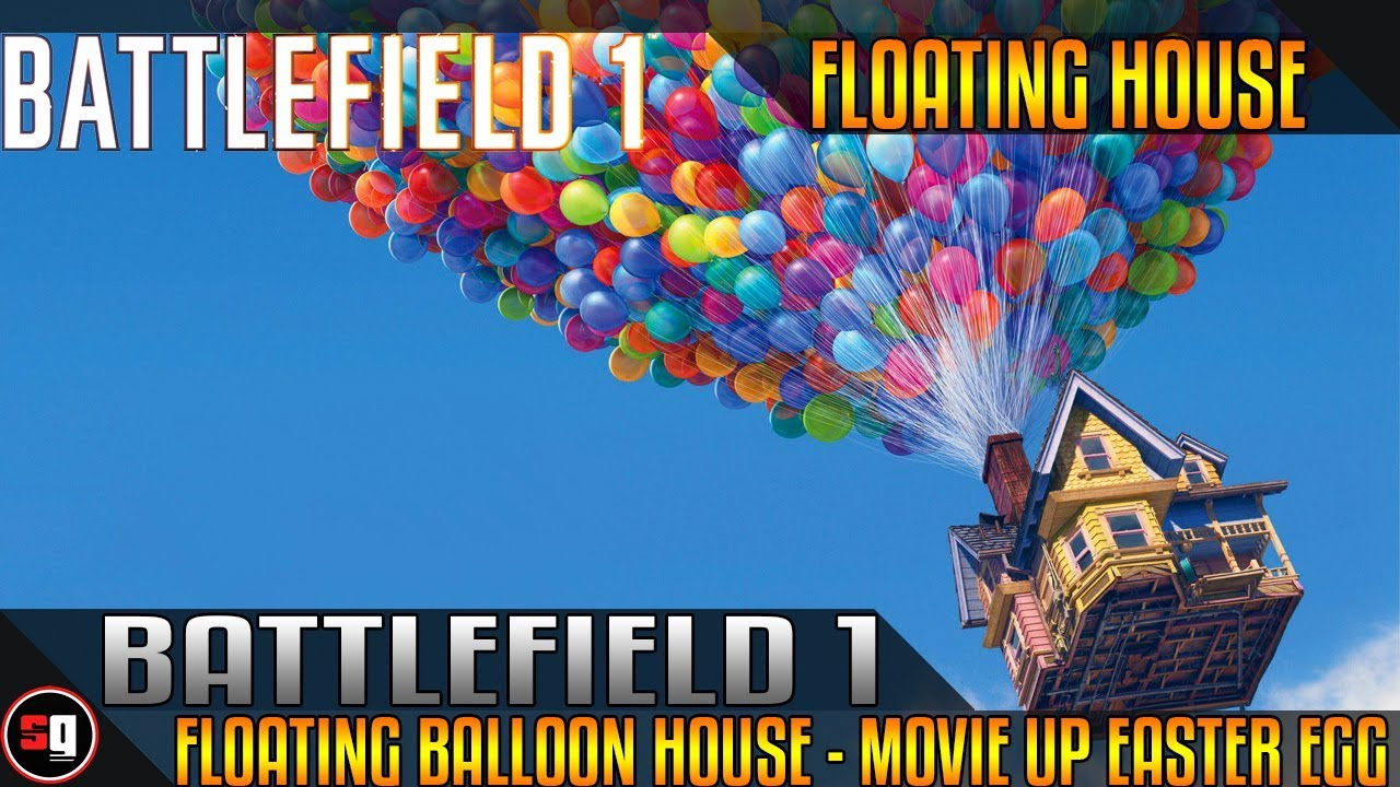 battlefield 1 floating balloon house movie up easter egg youtube