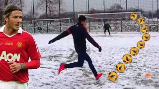 DAVID BECKHAM FUßBALL CHALLENGE⚽ IM SCHNEE