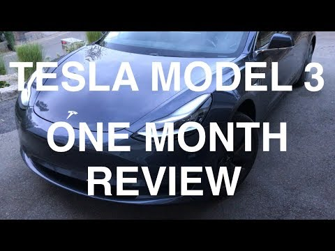 Tesla Model 3 - One Month Review
