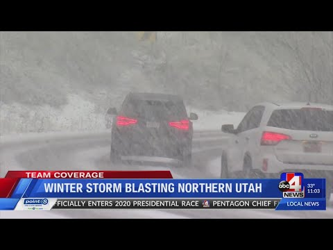 Winter Storm Blasting Northern Utah