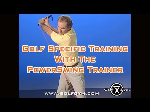 Golf Specific Exercises with the Golf Gym Power Swing Trainer