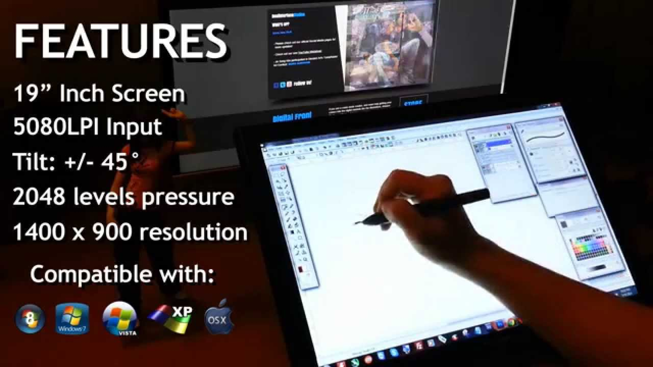 HUION GT-190 Affordable (Reliable) $360 Cintiq Alternative Display Tablet  Monitor