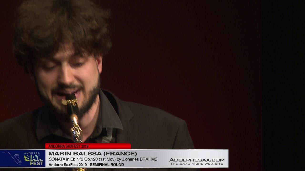 Andorra SaxFest 2019 Semifinal   Marin Balssa   Sonata in Eb Nº2 by J  Brahms