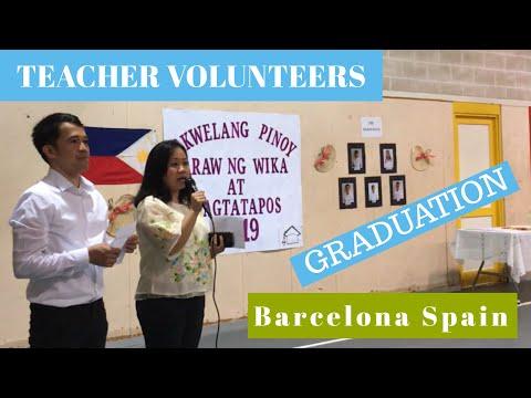Teacher Volunteer Abroad Part 2: Iskwelang Pinoy Barcelona Graduation 2019