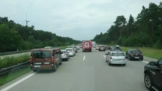 Einsatzfahrt Verkehrsunfall mit Personen auf der BAB10