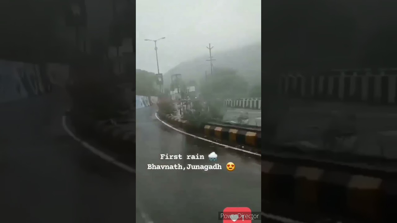 Timelapse of Trip To Bhavnath in First Rainfall #Shorts