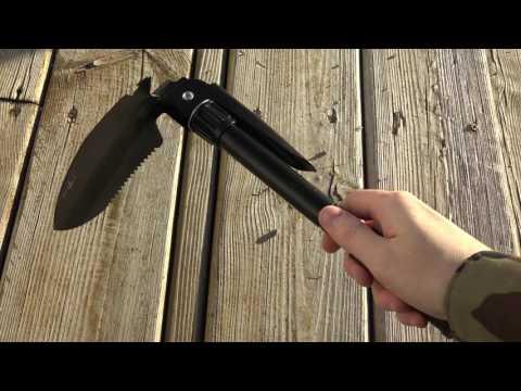 Multi-functional Mini Military Folding Shovel - BLACK