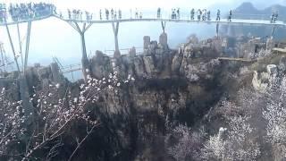 河北省保定市易县狼牙山景区旅游(玻璃栈道)