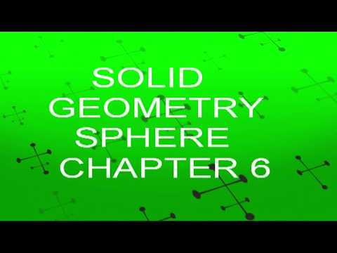 B sc 1st Year EXERCISE 6.1 SOLID GEOMETRY SPHERE LECTURE 1 Regular & Distance